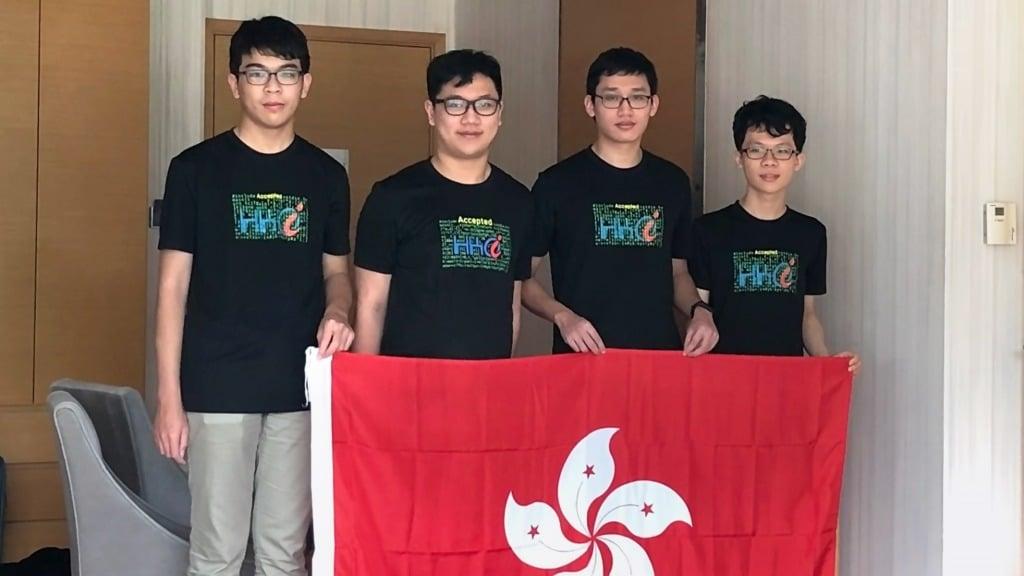 香港中學生在電腦奧林匹克贏得一金兩銅