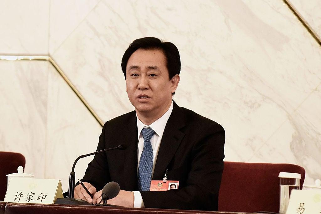 中國恆大集團創辦人許家印,一封求救信轟動全球輿論。(Etienne Oliveau/Getty Images)