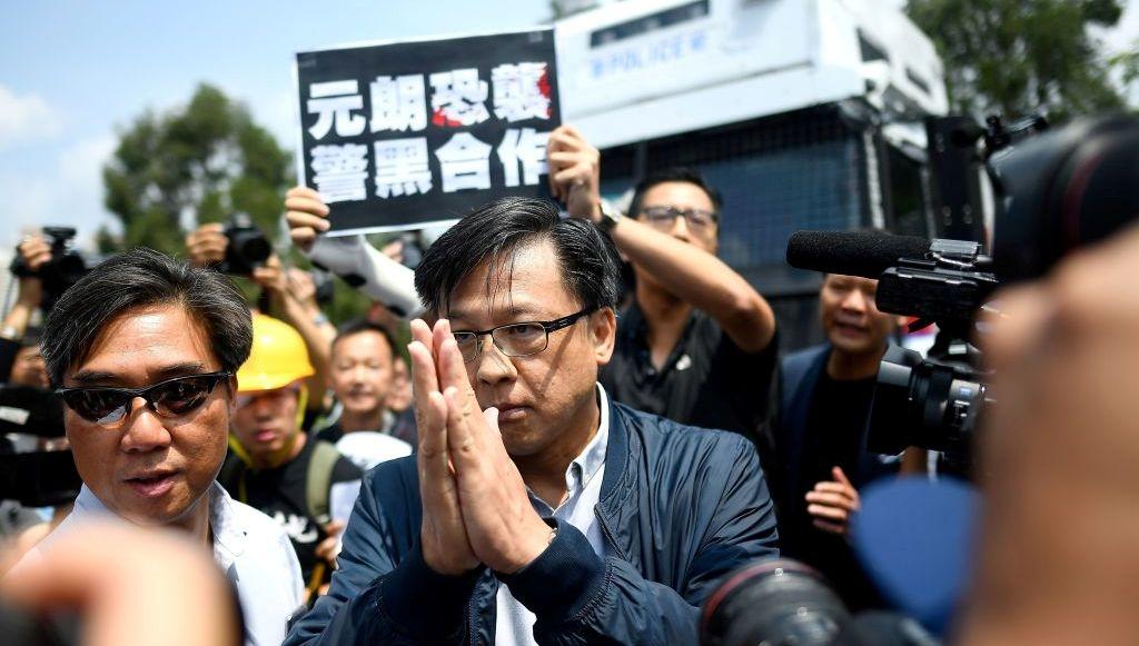 建制派議員何君堯。(MANAN VATSYAYANA/AFP via Getty Images)