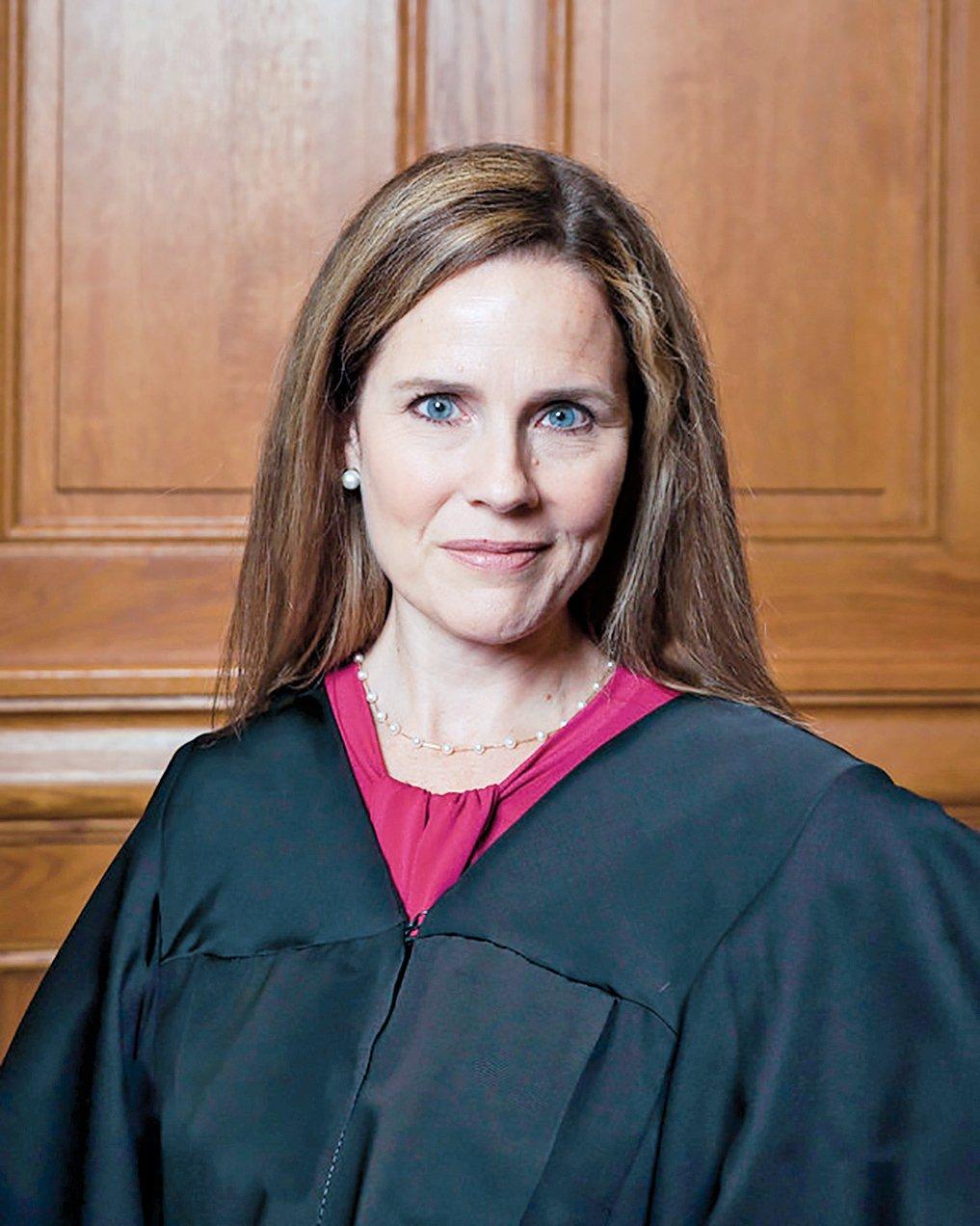 美國多家傳媒透露,總統特朗普將提名巴雷特(Amy Coney Barrett)出任聯邦最高法院大法官。(維基百科)