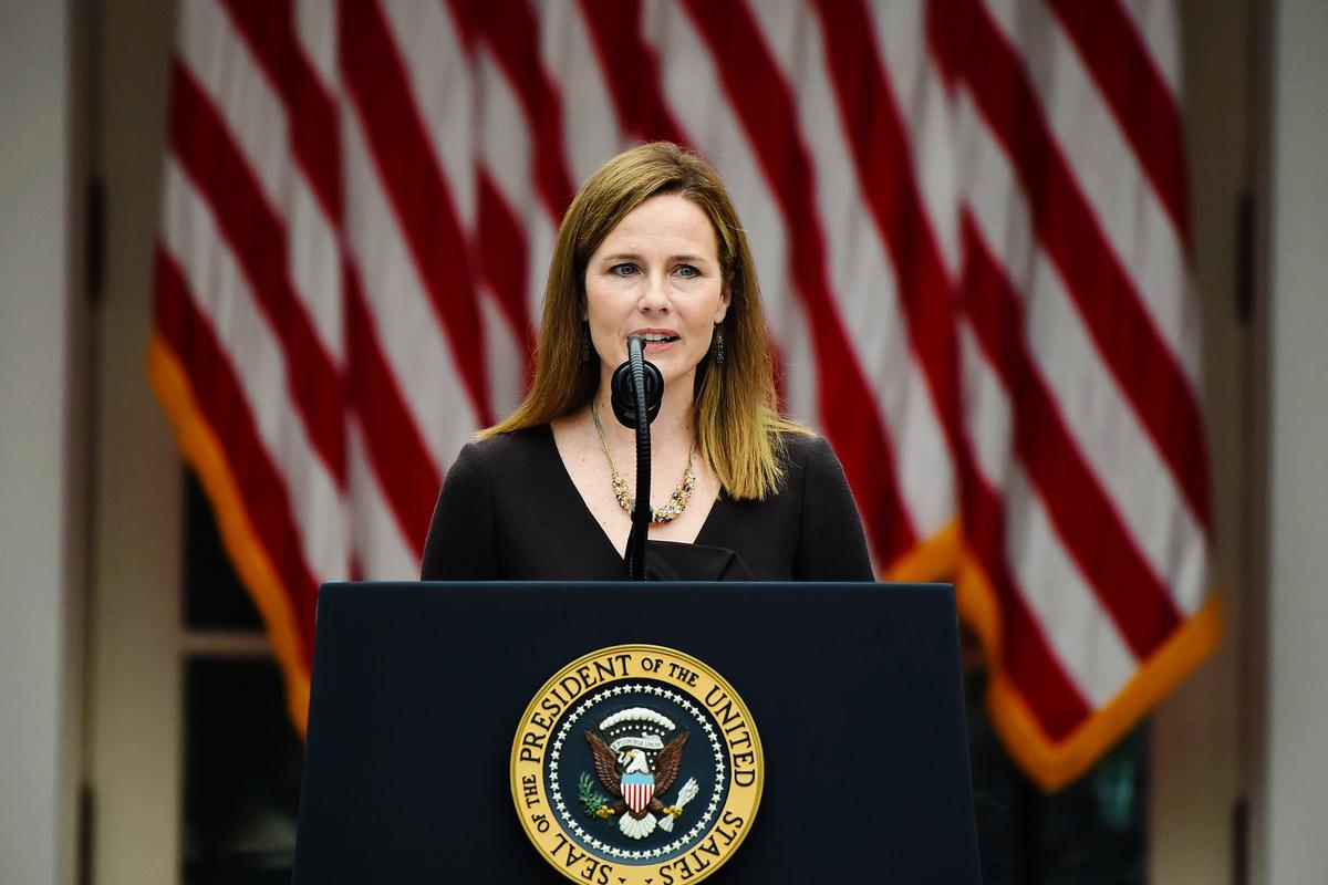 第七巡迴上訴法院法官艾米・科尼・巴雷特(Amy Coney Barrett)(OLIVIER DOULIERY/AFP)