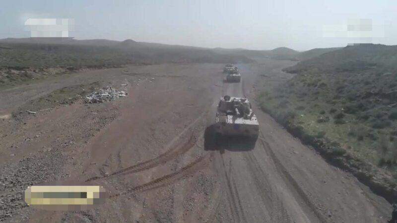 中共「火力2020青銅峽C」軍演畫面。(央視影片截圖)