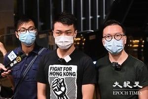 【圖片新聞】民陣就十一遊行上訴遭駁回 岑子杰抗議警方林鄭打壓香港自由