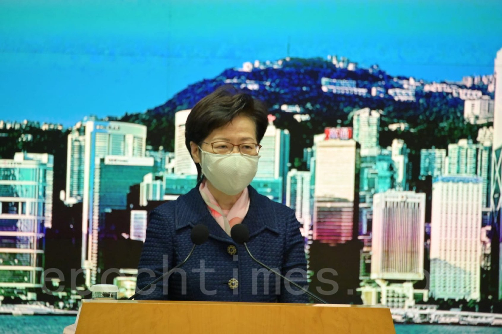 香港行政長官林鄭月娥。(郭威利/大紀元)