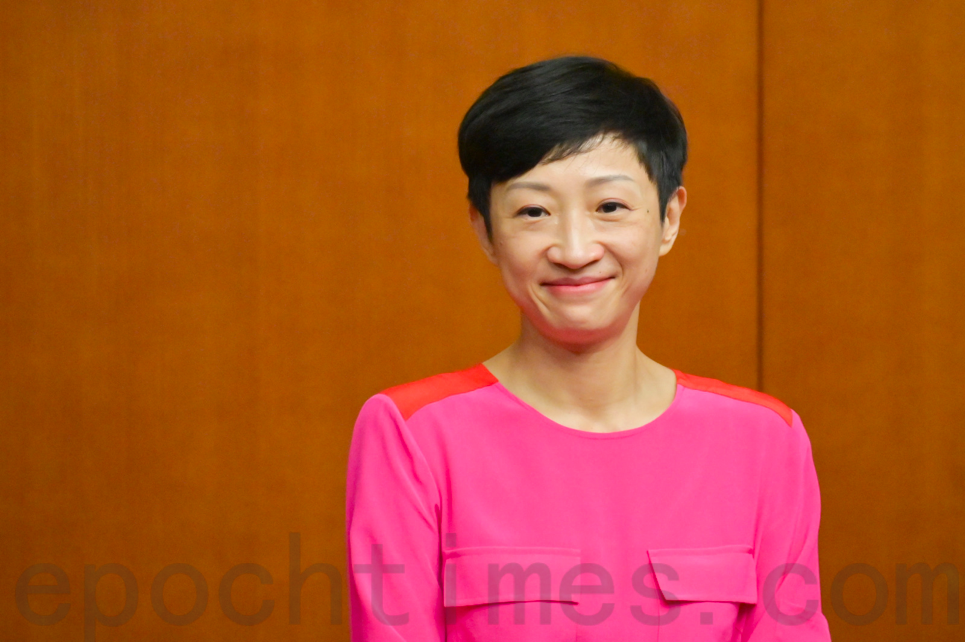 9月29日,公民黨立法會議員陳淑莊宣佈,未來將不再擔任立法會議員,並且退出公民黨。(郭威利/大紀元)