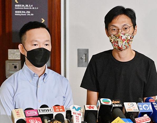 9月28日,朱凱廸(右)及陳志全(左)去信立法會秘書處,表明本月底4年任期屆滿後不會延任。(大紀元資料圖片)