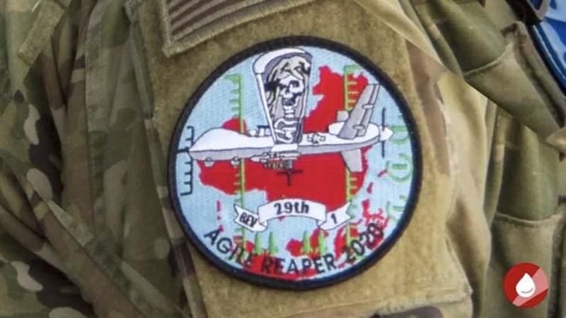 美軍飛行員新臂章,示死神俯視中共紅色政權圖案。(美國空軍雜誌/Air Force magazine截圖)