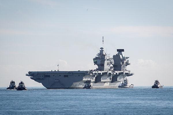 英國海軍航空母艦「伊利沙伯女王號」(HMS Queen Elizabeth R08)是英國海軍迄今最大的軍艦。(Matt Cardy Getty Images)