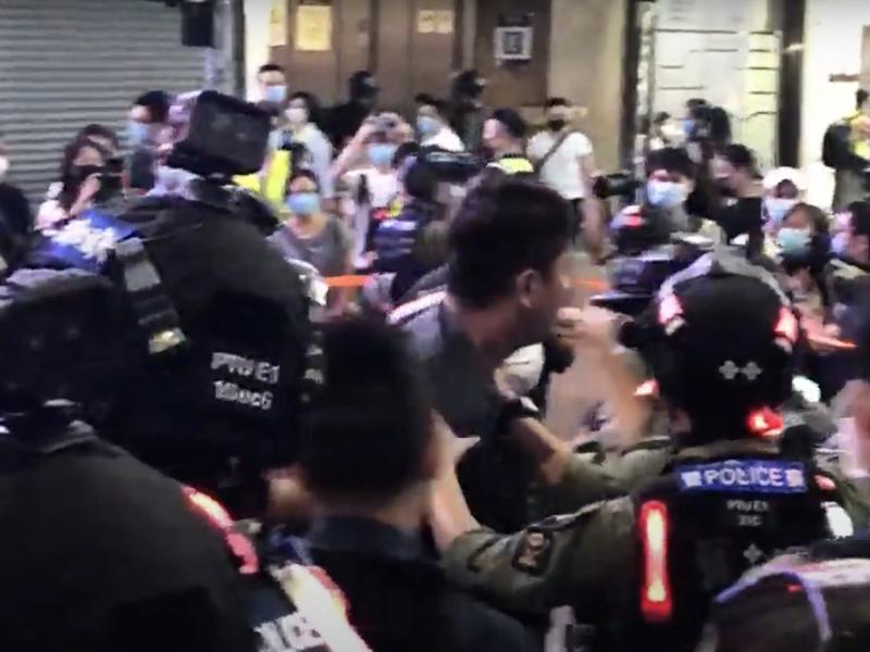 【直播】10.1晚銅鑼灣進入不夜城 多名抗爭者被捕