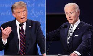 美國大選首場辯論 拜登被質疑藏微型話筒