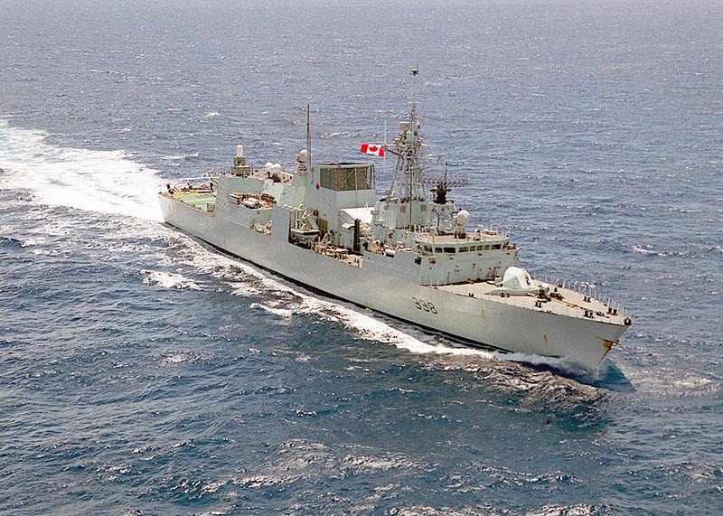 圖為加拿大皇家海軍護衛艦「HMCS Winnipeg FFH338」。(公有領域)