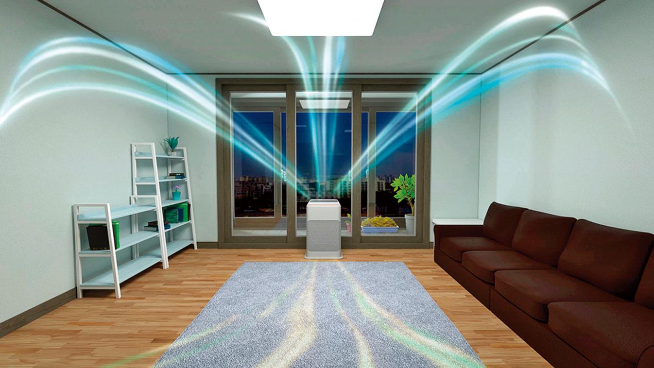 加州大火肆虐,空氣品質惡化,可以使用空氣清淨機淨化室內空氣。(shutterstock)