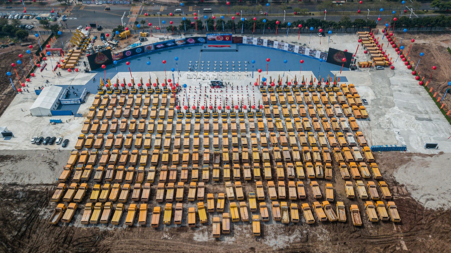 今年4月,恆大耗資120億元人民幣於廣州建設新體育場館。(STR/AFP via Getty Images)