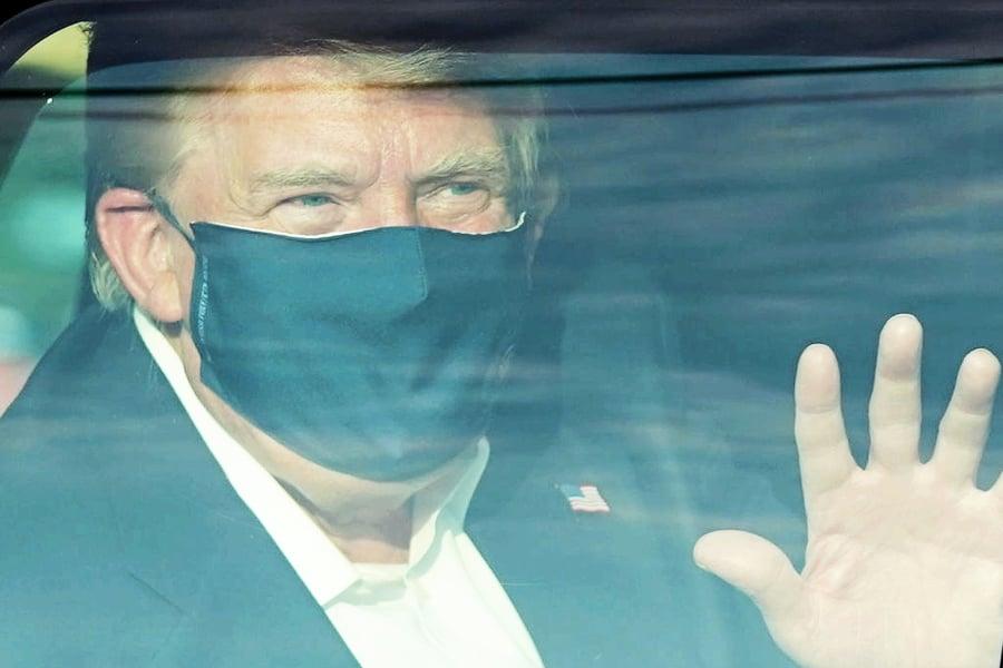 特朗普短暫離開醫院  沿途「我們愛你」呼聲不斷
