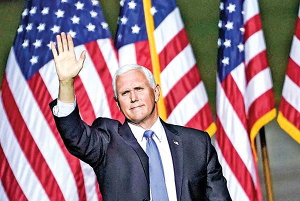 9月25日,副總統彭斯在維珍尼亞州的競選集會上。(Getty Images)