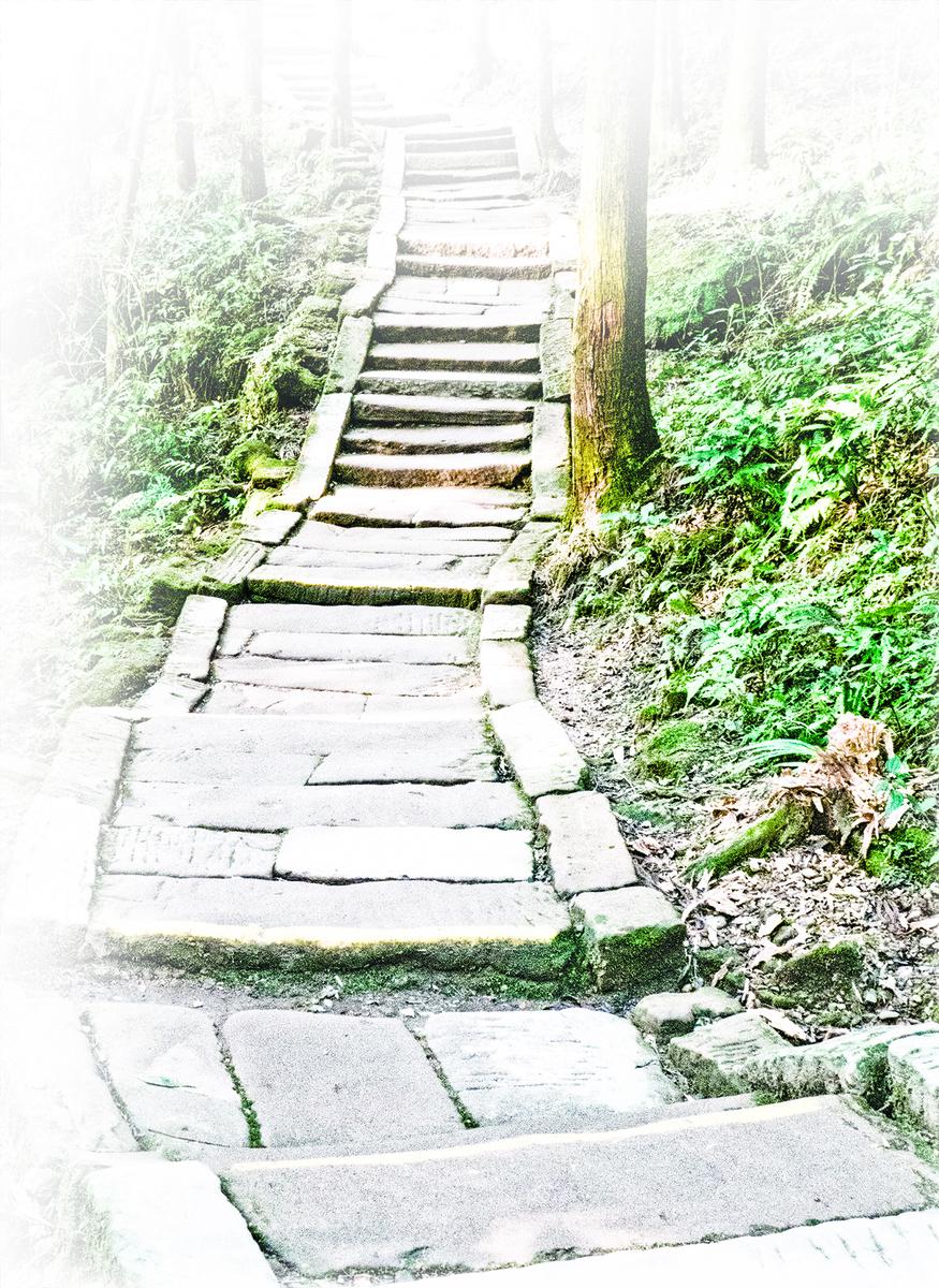 明崔子忠繪《藏雲圖》(局部),絹本設色,北京故宮博物院藏,描繪李白盤腿端坐盤車上,緩緩行於山路上,仰首凝視頭頂上的雲氣。