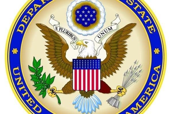 圖為美國國務院徽章。