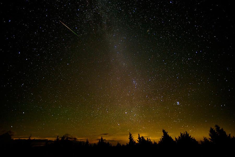 在西維珍尼亞觀測到的流星雨。(Bill Ingalls/NASA via Getty Images)