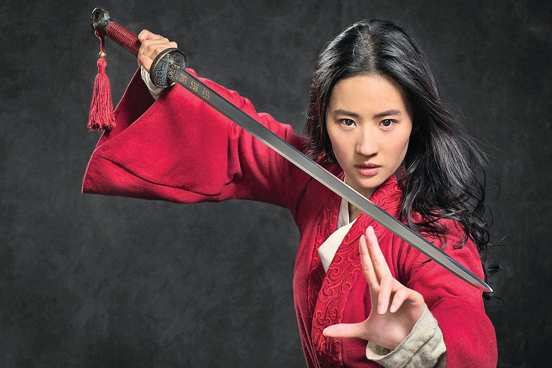 劉亦菲主演的《花木蘭》真人電影日前遭台灣影迷抵制。(迪士尼提供)