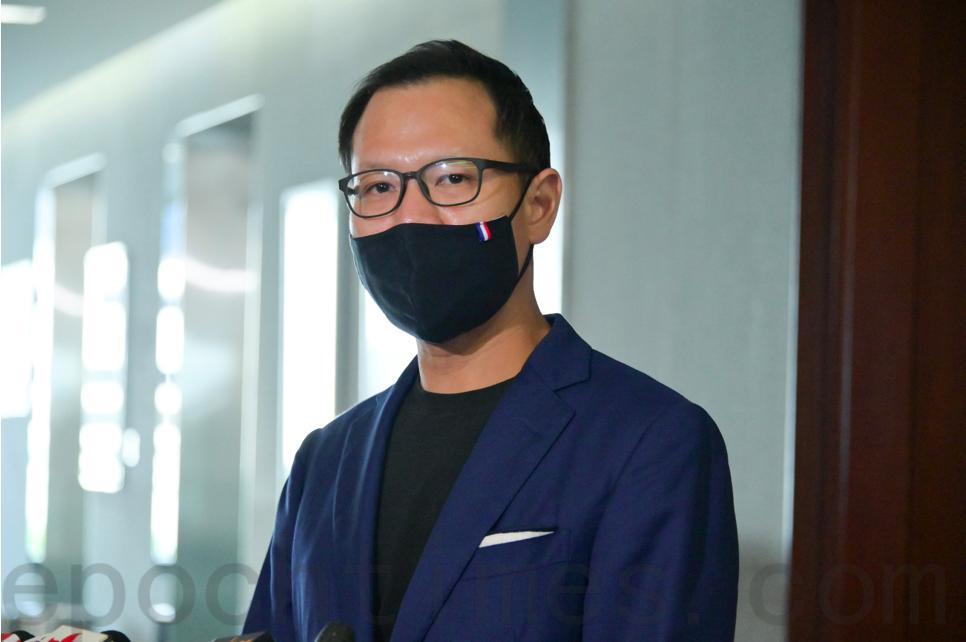 公民黨立法會議員郭榮鏗表示,歡迎司法機構的回應。(郭威利/大紀元)