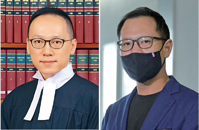 司法機構昨日公佈,針對香港前東區法院裁判官何俊堯(左圖)的6宗案件投訴不成立。法律界立法會議員郭榮鏗呼籲,親共人士停止上綱上線批鬥法官。(網絡圖片、郭威利/大紀元)