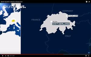 持刀者在瑞士車廂縱火行兇 7人送醫