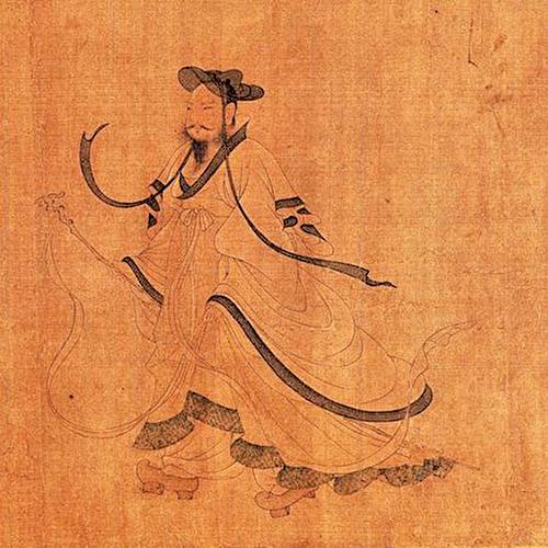 《歸去來辭書畫卷》描繪的陶淵明。傳為南宋佚名作品。(公共領域)