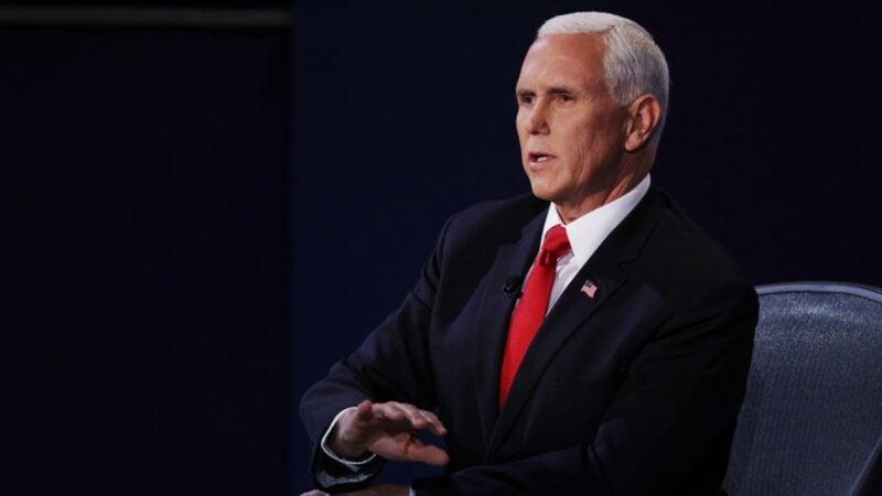 10月7日晚的副總統辯論會,共和黨副總統候選人彭斯表示,會繼續對中共強硬。(Alex Wong / Getty Images)