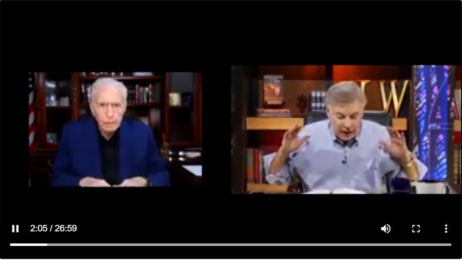 不時地有預知能力的傳教士蘭斯沃爾瑙(Lance Wallnau)博士說,特朗普將得到上帝派來的大天使的巨大幫助,所以最後一定能連任。(影片截圖/「席德羅斯的超自然事件」頻道)