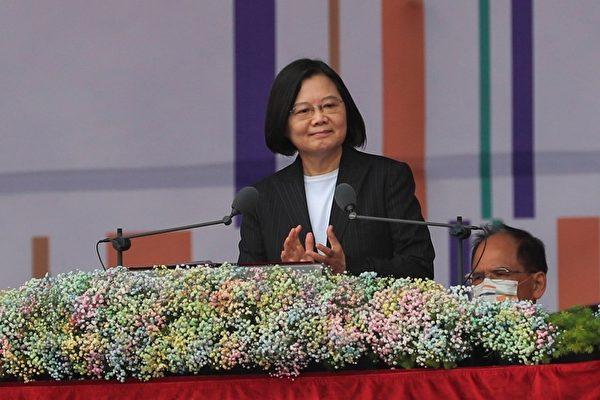 中華民國國慶大會2020年10月10日上午在總統府前廣場舉行,總統蔡英文出席並致詞。(中央社)
