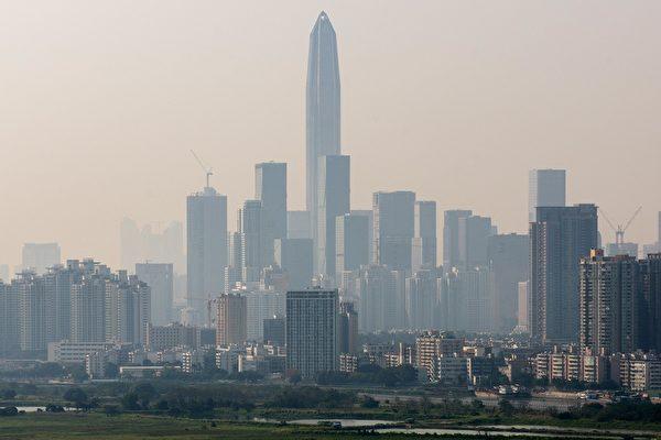 習近平將參加深圳特區建立40年紀念活動。圖為陰霾瀰漫的深圳樓景。(Getty Images)
