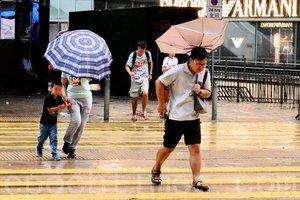 香港天文台:三號風球生效 明早或改發八號風球