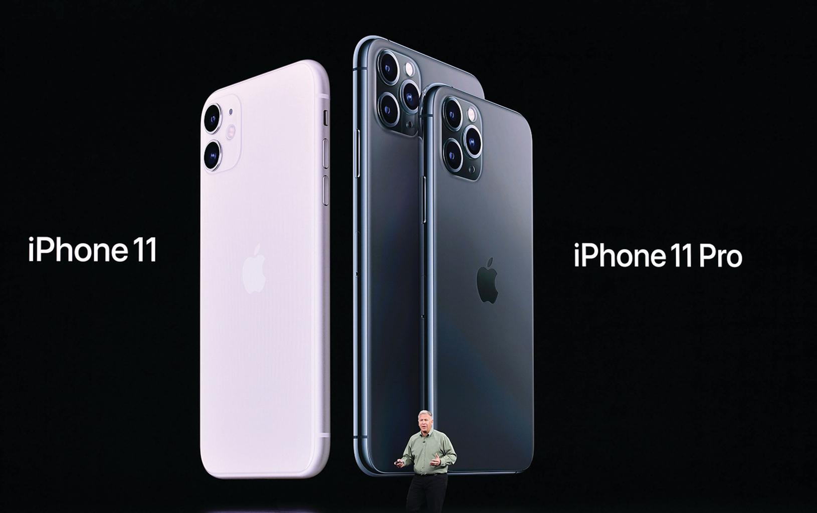 2019年9月10日,蘋果公司發表了3款iPhone 11系列手機。目前,iPhone 11是最暢銷的iPhone。(AFP via Getty Images)