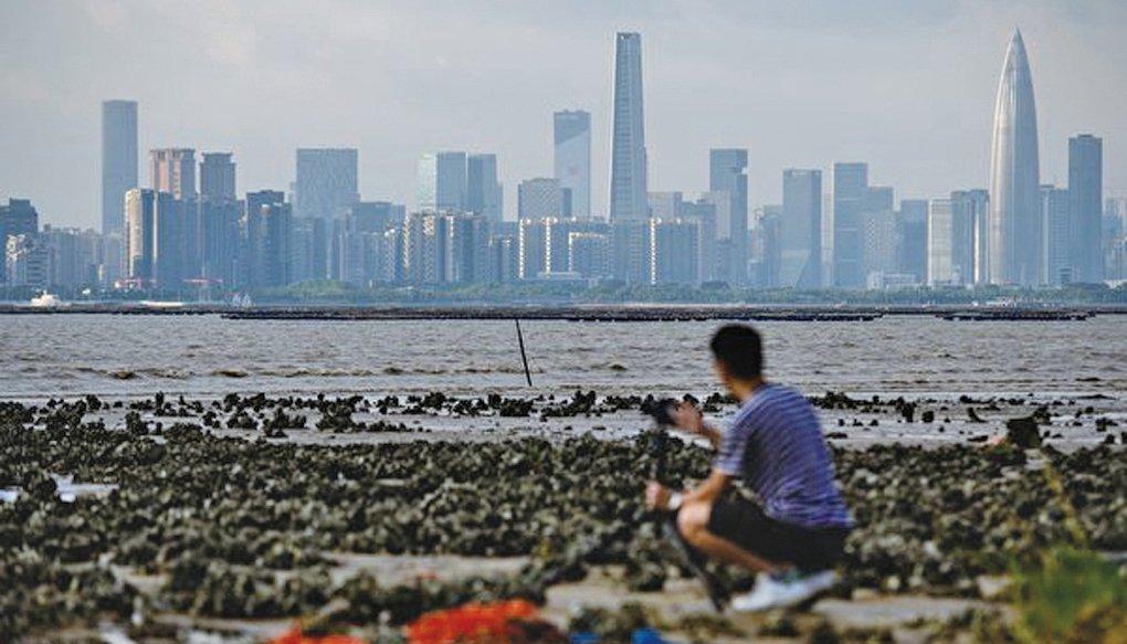 與香港一水之隔的深圳樓景。(Getty Images)