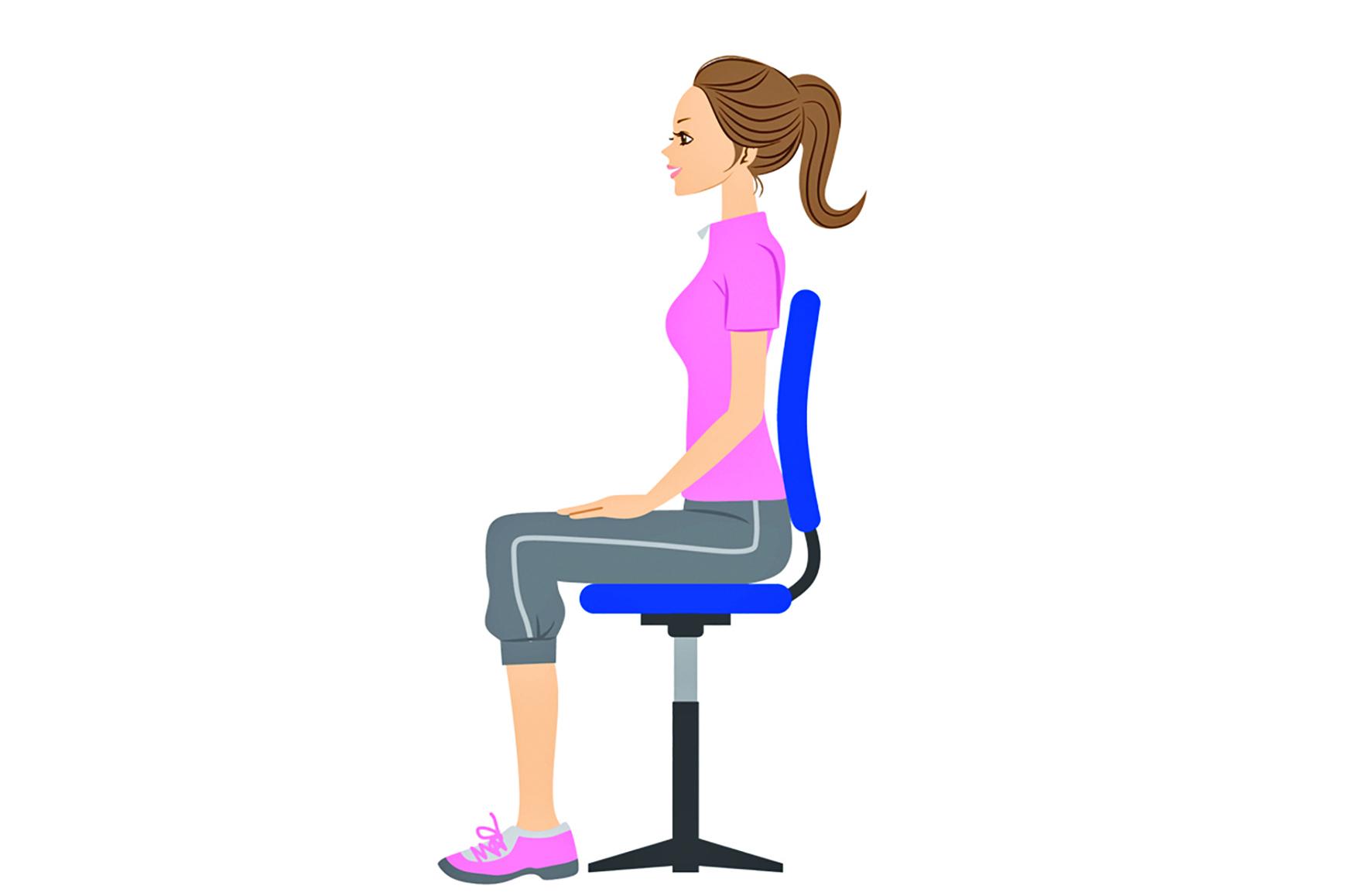 養成良好的姿勢,能避免對膝蓋等身體特定部位造成負擔。