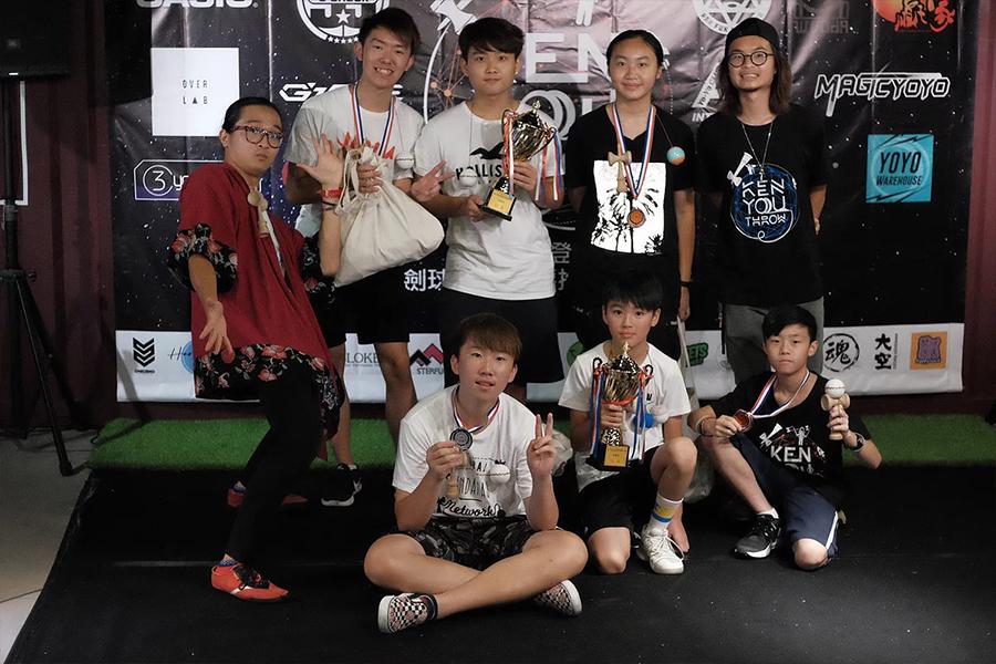 第一屆全港花式劍球大賽合照。(受訪者提供)