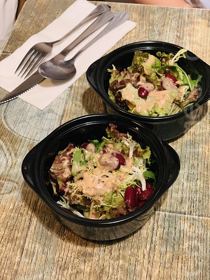 跟餐的沙律菜。(Siu Shan提供)
