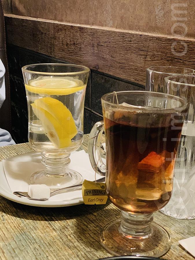 熱檸水和伯爵茶。(Siu Shan提供)