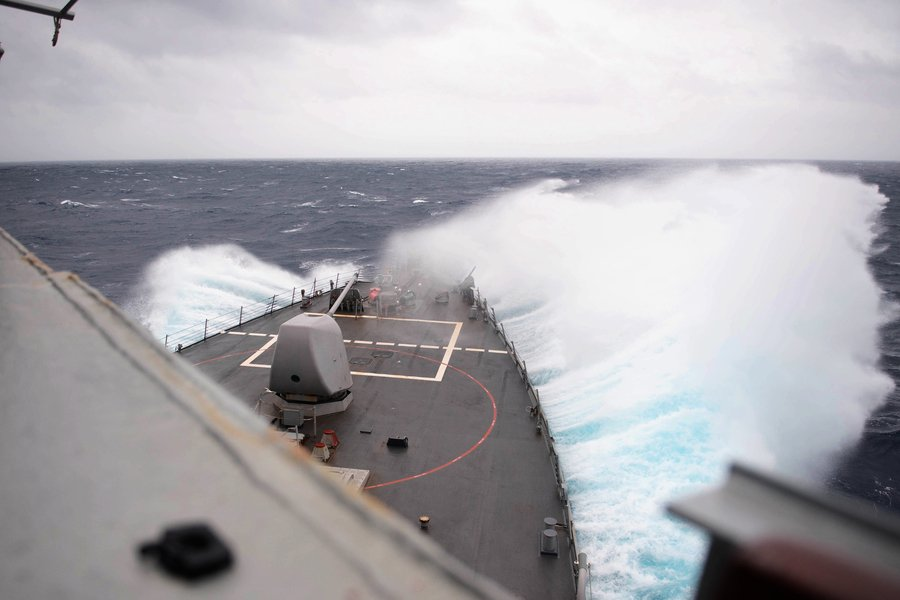 美軍公佈軍艦穿越台灣海峽照 美台討論新防衛理念