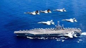 美航母戰鬥群駛近台灣 俄媒:中美有爆發戰爭風險