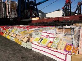 港海關首次發現躉船走私水果及凍肉 市值約二千萬元