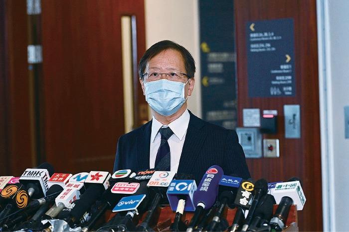 郭家麒表示,衛生署今年只訂購87.8萬劑疫苗,不足以覆蓋去年打針人數,促請政府立即向各大藥廠加訂疫苗。(宋碧龍/大紀元)
