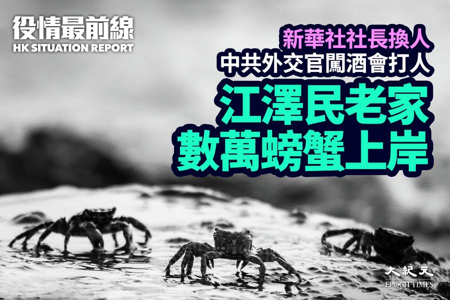 【10.20役情最前線】江澤民老家數萬螃蟹上岸