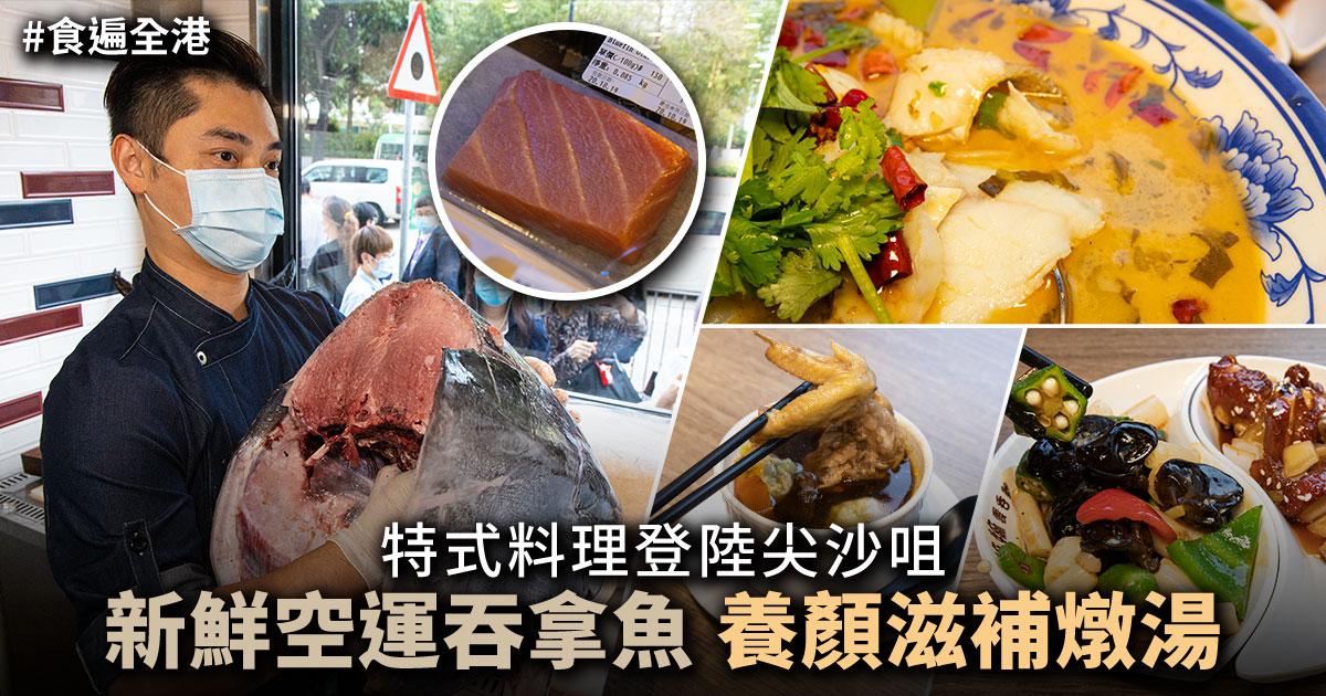 新鮮空運吞拿魚和養顏滋補燉湯等特式料理登陸尖沙咀。(設計圖片)