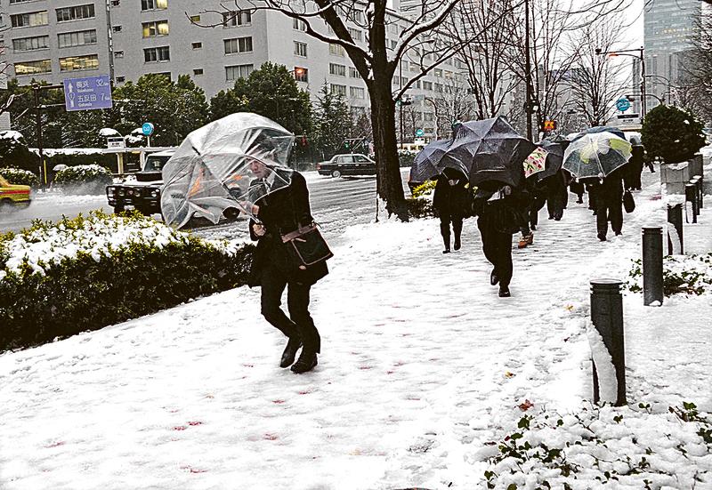 東京市區罕見積雪6厘米