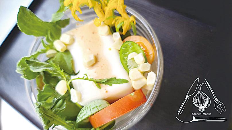 台式野菜沙律。