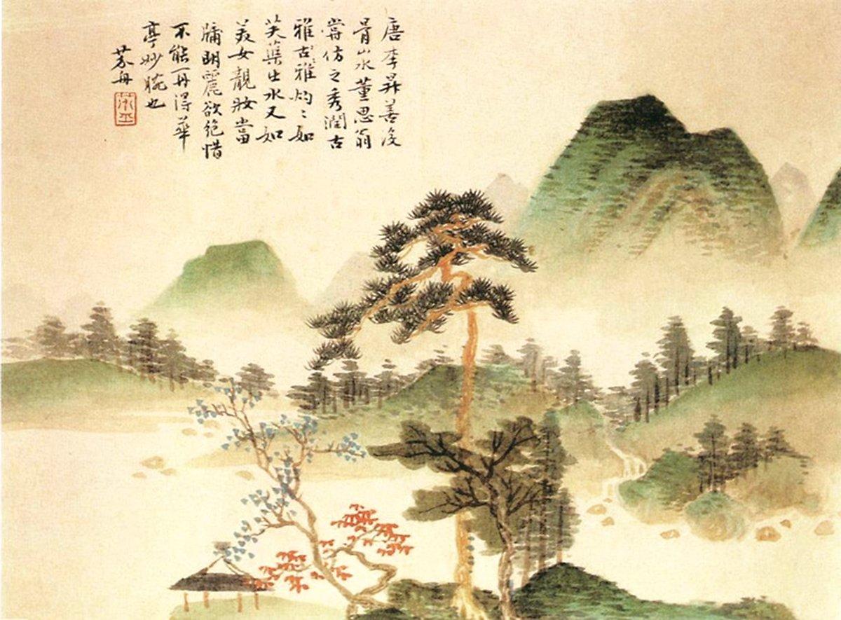 每逢重陽節,傳統華人都會藉著這個日子,宏揚中華傳統的美德,探索中華傳統關懷生命的文化。(清‧沈宗騫〈竹林聽泉圖〉公有領域)