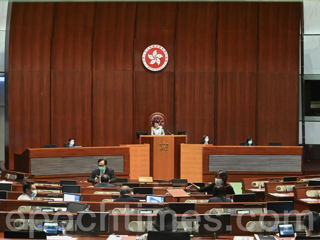 立法會今日(10月22日)續會,會議進入全體委員會審議階段,包括修訂《高等法院條例》修正案的審議。(宋碧龍 / 大紀元)