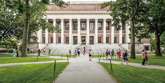 2004年至今,哈佛收到的中國捐款最多,共計1.16億美元。圖為哈佛大學校園。(Getty Images)