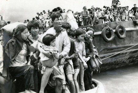 1975年逃離越共的難民。(Jack Cahill/Toronto Star via Getty Images)